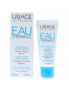Uriage Eau Thermale Light Water Cream 40ml SPF 20 NEW.