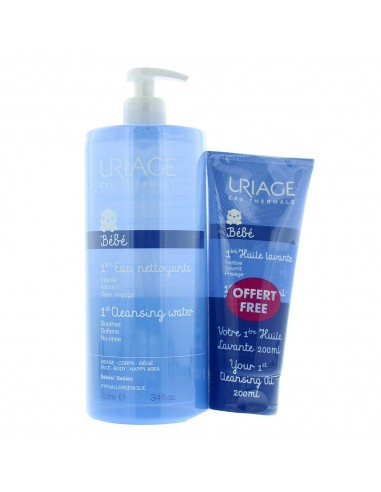 URIAGE BABY 1ST WATER 1L - CLENSING OIL 200ML